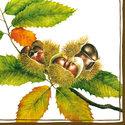 Ambiente-papieren-servetten-CASTANEA-Kastanje-bladeren-33x33cm-herfst