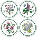 Pimpernel-Portmeirion-placemats-rond-round-31cm-kunststof-kurk-set/4-BOTANIC GARDEN-botanische-bloemen