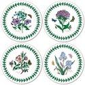 Pimpernel-Portmeirion-onderzetters-coasters-rond-round-10.5cm-kunststof-kurk-set/4-BOTANIC GARDEN-botanische-bloemen