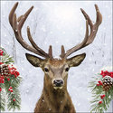 papieren-servetten-p/20-Ambiente-cocktail-33x33cm-lunch-diner-DEER IN WINTER-hert-eland-gewei-kersttakken-sneeuw