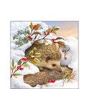 Ambiente-papieren-servetten-HEDGEHOG-SNOW-33x33cm-egel-sneeuw-33310515