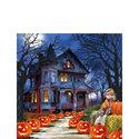 papieren-servet-cocktail-Ambiente-herfst-SPOOKY-halloween-25x25cm-pompoenen-stropop-spookhuis