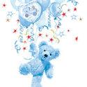 Ambiente-papieren-lunch-diner-servetten-TEDDY-BLUE-Boy-33x33cm-Teddybeer-jongen-blauw