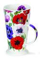 Beker-Alto-rode-blauwe-witte-Poppies-klaprozen-geschenkdoos-groen-zwart