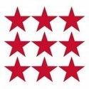 papieren-lunch-servetten-STARS-POS.-RED-sterren-positief-rood-33x33cm-