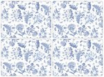Pimpernel-placemat-set/4-botanic-blue