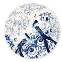 Royal Delft-servies-blue-PEACOCK-SYMPHONY-vogel-onderbord-plate-30,5cm-fine bone China