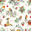 papieren-servetten-lunch-diner-Kerst-CHRISTMAS-ORNAMENTS-Roodborstjes-Robins-33x33cm