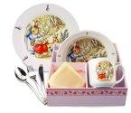 Dejeuner-kinder-ontbijtset+bestek-Peter_Rabbit-Pieter-konijn-display-6dlg-Reuter-Porzelan