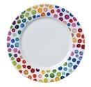 Dunoon-bord-plate-HOT SPOTS-stippenregen-gekleurde-stippen