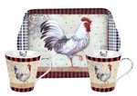 Portmeirion-Mu_&_Tray-set-2bekers-dienblad-COUNTRY_TOUCH-kip-haan-geblokt
