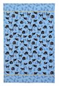 Ulster-Weavers-theedoek-katoen-Tea Towel-cotton-Design-CAT-NAP-slaperige-zwarte-katjes-geel-halsbandje-achtergrond-blauw